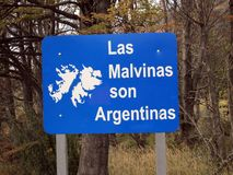 The Malvinas are Argentinas Ushuaia. The Malvinas are Argentinas Bahia Lapataia Usuaia Tierra del Fuego Argentina Royalty Free Stock Image
