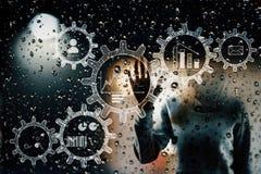Malware和工程概念 库存照片