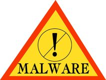 Malware词文本商标例证 库存图片
