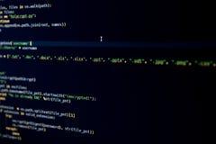 Malware źródła kod utajnia odmianowego typ kartoteki Fotografia Royalty Free