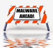 Malware вперед показывает злостую опасность на будущее компьютера бесплатная иллюстрация