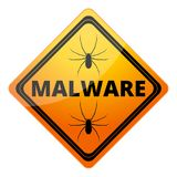 Malware Attention Hazard sign Royalty Free Stock Photos