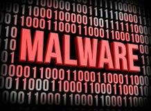 Malware begrepp Arkivfoton