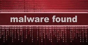 Malware. Computer virus warning sign Stock Photo
