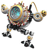 Malware concept robot poised and ready to devour Royalty Free Stock Photography