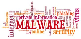 Malware cyber security royalty free stock photo