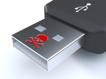 Malware d'USB photo stock