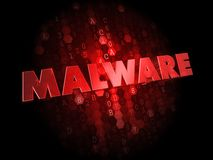 Malware on Dark Digital Background. Royalty Free Stock Photos