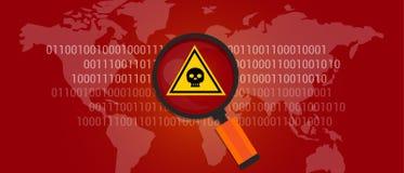 Malware de virus de données d'Internet Images stock
