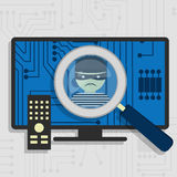 Malware detected on smart tv Stock Images