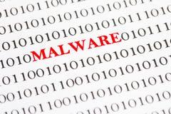 Malware en código binario Fotos de archivo libres de regalías