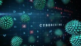 Malware en computervirusaanval stock illustratie