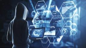 Malware et concept de réseau photos stock
