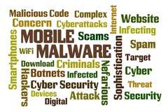 Malware mobile Photographie stock libre de droits