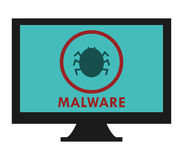Malware na komputerze Obrazy Stock