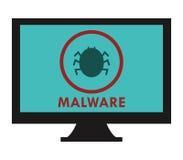 Malware no computador Imagens de Stock