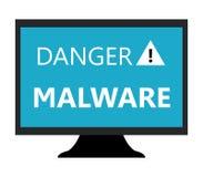 Malware no computador Fotografia de Stock