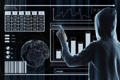 Malware och dataintrångbegrepp royaltyfria foton