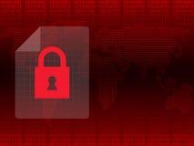 Malware Ransomware wannacry病毒被加密的文件 免版税库存图片