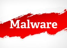 Malware Red Brush Abstract Background Illustration stock illustration