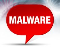 Malware Red Bubble Background royalty free illustration