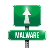 Malware road sign illustration design Stock Photography