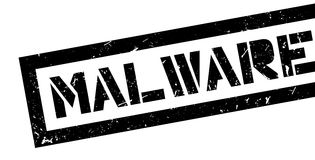 Malware rubber stamp Royalty Free Stock Photos