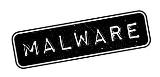 Malware rubber stamp Stock Image