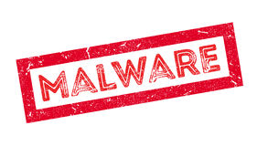 Malware rubber stamp Stock Images