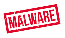 Malware rubber stamp Stock Photos
