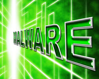 Malware Security Indicates Protected Restricted And Secure Stock Images