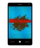 Malware Smartphone Royaltyfria Bilder