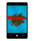 Malware Smartphone Royalty Free Stock Images