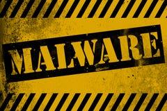 Malware teckenguling med band Arkivbild
