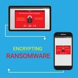 Malware utajniał kartotekę, Ransomware używa bitcoin otwiera twój kartotekę ilustracja wektor