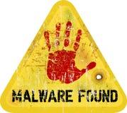 Malware  warning Stock Photo