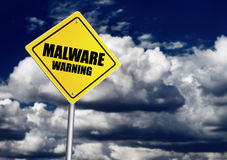 Malware warning sign Royalty Free Stock Photography