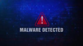 Malware Wykrywał Raźnego Ostrzegawczego błąd wiadomości mruganie na ekranie ilustracji