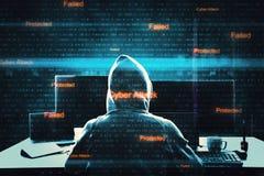 Malware y concepto del ataque imagen de archivo libre de regalías