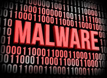 Malwareconcept royalty-vrije illustratie