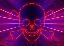 Malwareconcept Een virusprogramma royalty-vrije stock foto's