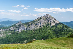 Maly Rozsutec and higher Velky Rozsutec hills in Mala Fatra mountains in Slovakia stock image