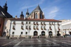 Maly Rynek,老镇,克拉科夫,波兰 免版税库存照片