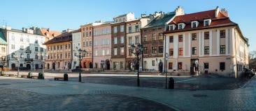 Maly Rynek i Krakow Arkivbild
