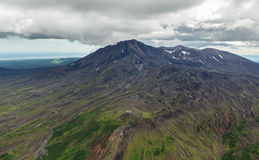 Maly Semyachik is a stratovolcano. Kronotsky Nature Reserve on Kamchatka Peninsula. Royalty Free Stock Images