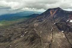 Maly Semyachik is a stratovolcano. Kronotsky Nature Reserve on Kamchatka Peninsula. Stock Images