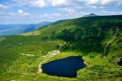 Maly Staw in Krkonose. Mountains near polish-czech borders. Poland royalty free stock photos
