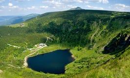 Maly Staw in Krkonose. Mountains near polish-czech borders. Poland stock photography