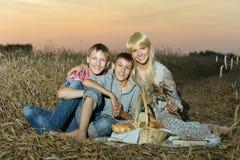 Mamá con con sus niños Imágenes de archivo libres de regalías