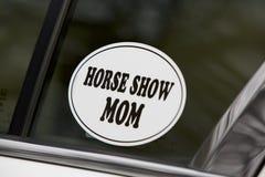 Mamá de la demostración del caballo Fotografía de archivo
